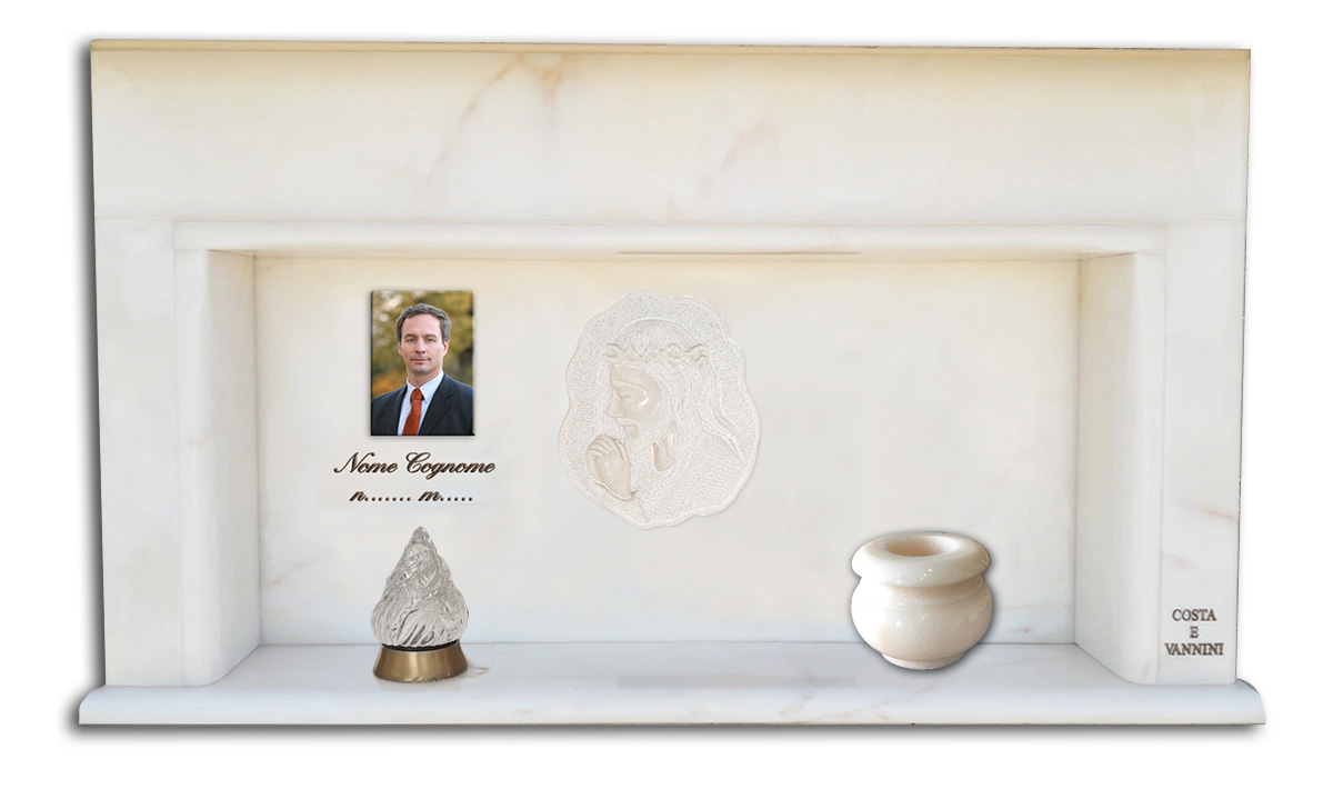 cinerario scultura-vaso-lume