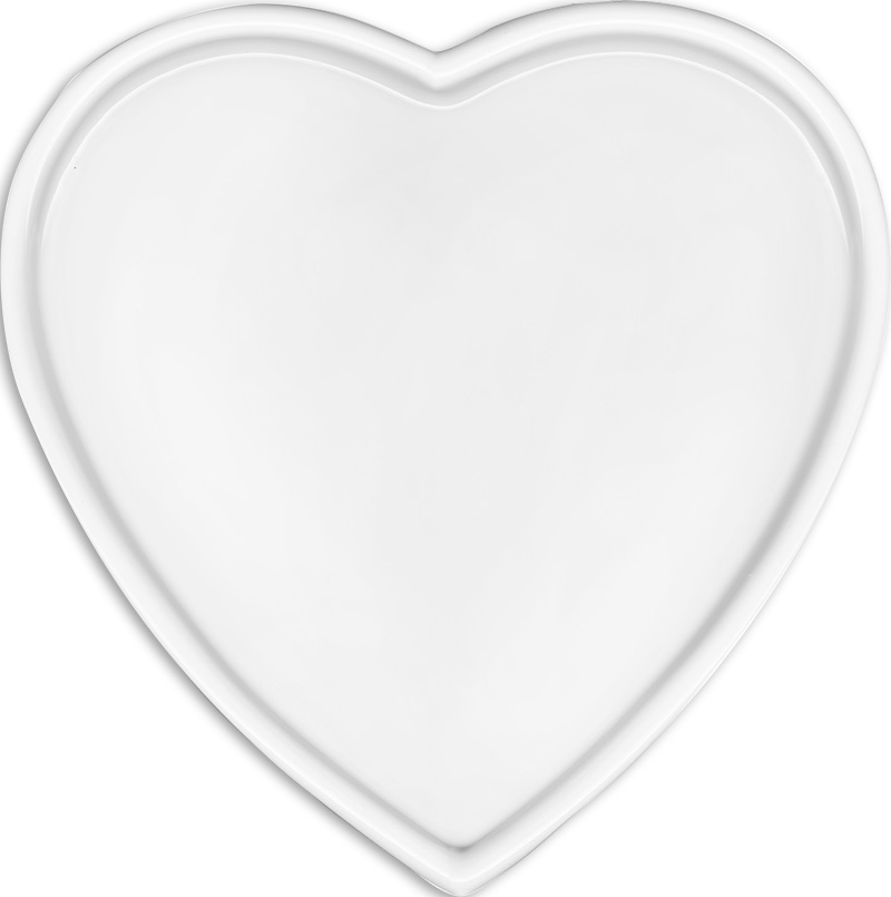 cuore con bordo bianco